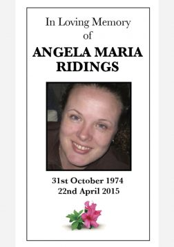 Memorial Card - Template 1 Front